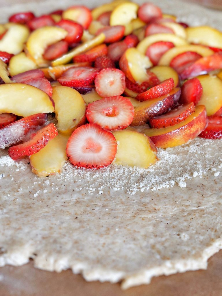 Strawberry peach galette - vegan & naturally sweetened