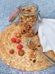Crunchy orange coconut granola - vegan and naturally sweetened
