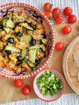 Sweet potatoe-quinoa-mango-salad - vegan & gluten free