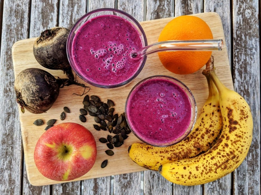 Purple Love Smoothie - all u need in one smoothie: Fruit, veggies, seeds for protein & omega 3's