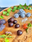 Hand-made Carob Bliss Balls - vegan & gluten-free