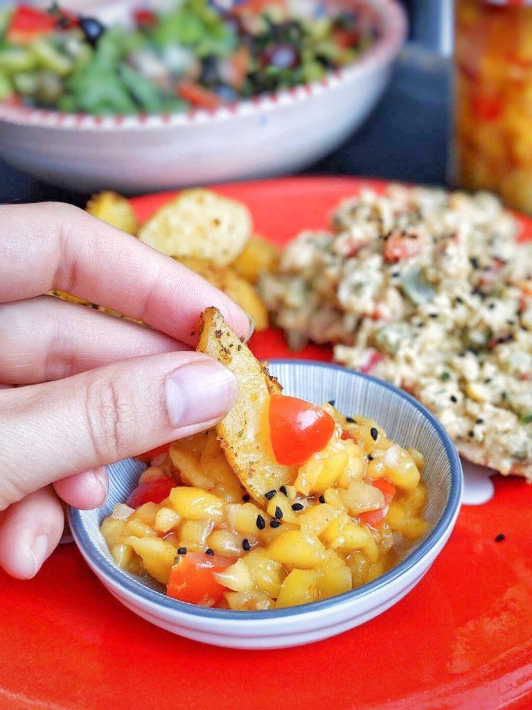 Mango Ginger Salsa - vegan, GF & sugar free