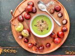 Creamy Pea & Coconut Soup with Ginger - vegan & gluten-free