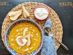Fruity Sweet Potato Soup with Pears - vegan & gluten-free