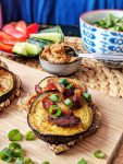 Vegan Eggplant Sandwiches with Date-Plum-Mustard