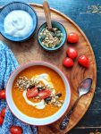 Oriental Lentil Soup with Peppers, Tomatoes & Ginger - vegan & gluten-free