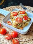 Vegan Sweet Potato Mushroom Lasagna - bursting with veggies & flavor. The perfect autumn food!