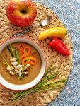 Sweet Apple & Parsnip Soup | inlovewithbliss.com #vegan #soup #recipes #glutenfree #healthy